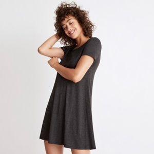 Madewell Swingy Tee Shirt Dress Charcoal Gray